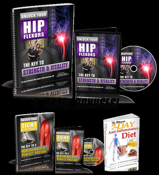 unlock your hip flexors - bonuses and guarantee